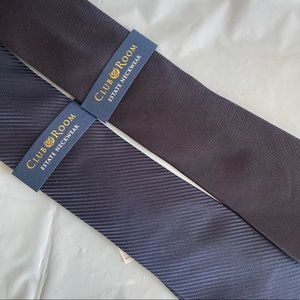 2 Club Room CLUB ROOM NAVY BLUE 100% SILK NEW TIES